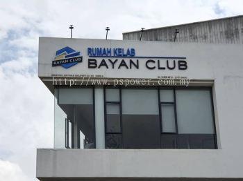 Signage 3D Aluminium box up with Spray paint  - BAYAN CLUB at Seri Kembangan