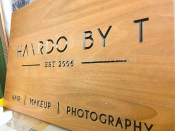 Wood Engraving Signage