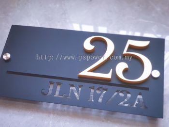 Laser Cut Stainless Steel - Door Plate