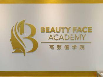 Acrylic 3D Signage - 5mm Acrylic Wording Laser Cut with spray Gold paint @ Bandar Sunway