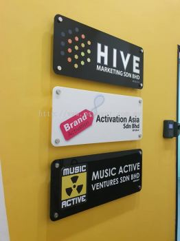 Acrylic Signage with 4 nuts