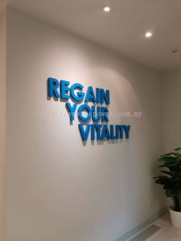 3D Acrylic Caption Wording - Office Decoration