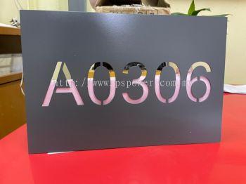 Laser Cut Metal Signage - Door Number Plate