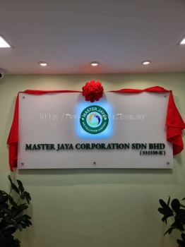 Company Reception Indoor Signage