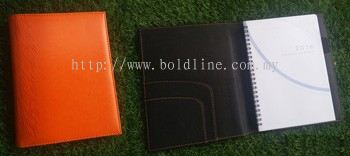 Executive Note Book - PU 4-Orange