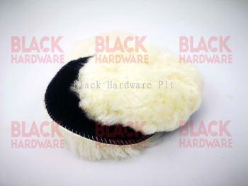5inch 125 Polish Wax Abrasive Machine Car Bonnet Shine Smooth Knit Velcro Fluff Sheep Skin Lamp Wool