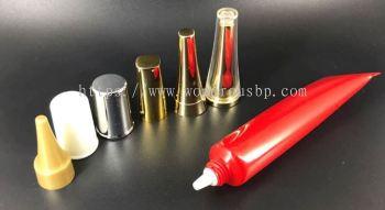 PER009 - D19 - 20ml Plastic Red Round Tube Different Cap