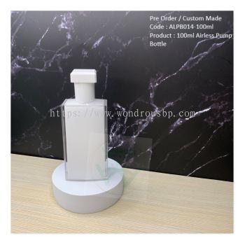 100ml Unique Acrylic Airless Pump Bottle (Lotion Pump) - ALPB014