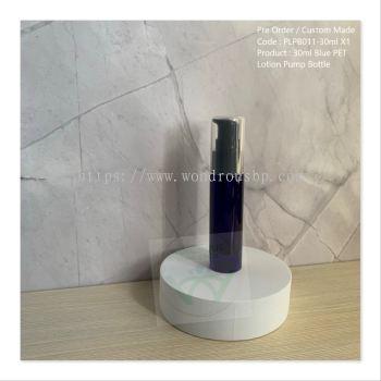30ml Blue PET Lotion Pump Bottle - PLPB011