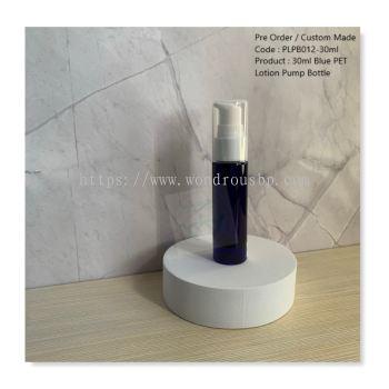 30ml Blue PET Lotion Pump Bottle - PLPB012