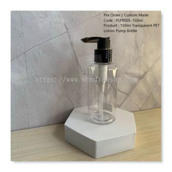 150ml Transparent PET Lotion Pump Bottle - PLPB005