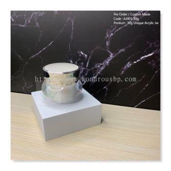 30g Unique Acrylic Jar (Pearl White) - AJ001