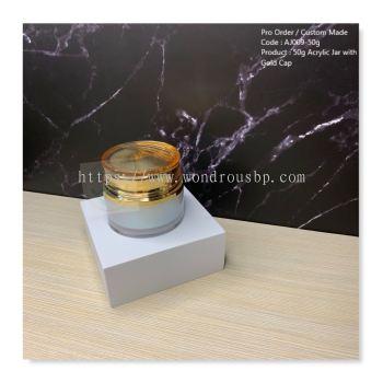 50g Acrylic Jar with Gold Cap - AJ009
