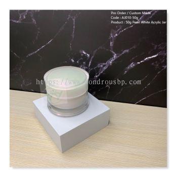 50g Pearl White Acrylic Jar - AJ010