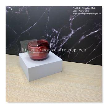 30g Unique Acrylic Jar (Red) - AJ013