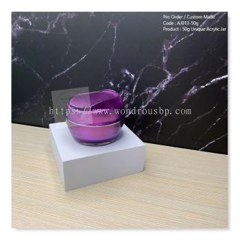 50g Unique Acrylic Jar (Purple) - AJ013