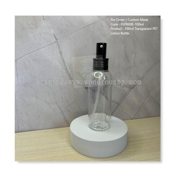 100ml Transparent PET Lotion Bottle - PLPB008