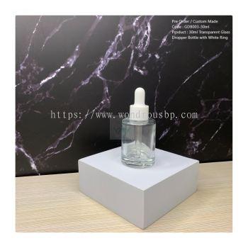 30ml Transparent Glass Dropper Bottle - GDB013