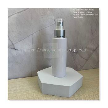 100ml White PET Mist Pump Bottle - PSPB001