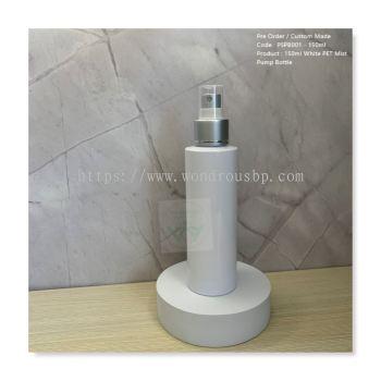 150ml White PET Mist Pump Bottle - PSPB001