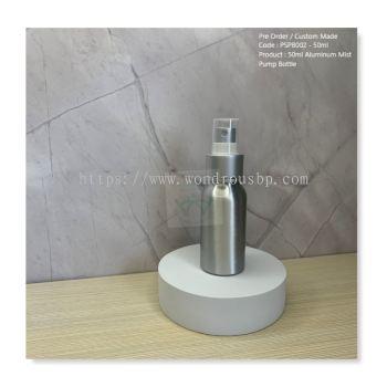 50ml Aluminum Mist Pump Bottle - PSPB002