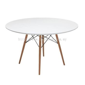 Creative Eames Simple Round Cafe Leisure Wooden Table