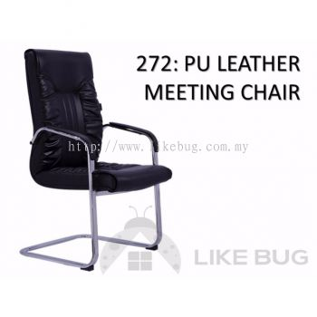 PU Leather Upholstery Back & Seat Meeting Office Chair