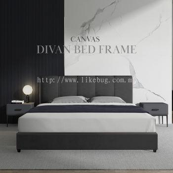 HANDLEY Canvas Divan Queen Size Bed Frame  Katil Queen  Bed Frame Queen  King Size  Single Size