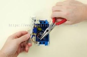 checking and replace faulty switch socket