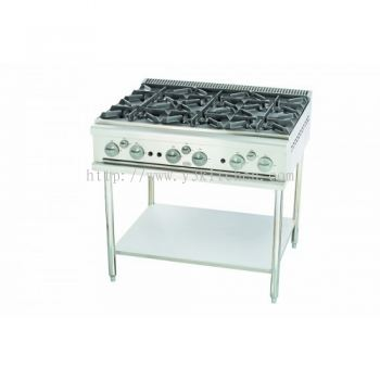Open Burner c/w SS Stand (6 Burners)MSM-6-OBS