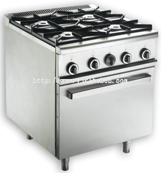 MSM 4 OPEN BURNER RANGE WITH OVEN