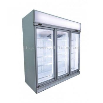 LINDEN - Commercial display 3 heater glass doors chiller