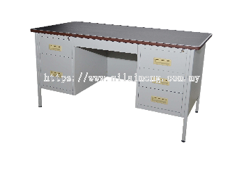 Steel Double Pedestal Desk 5'