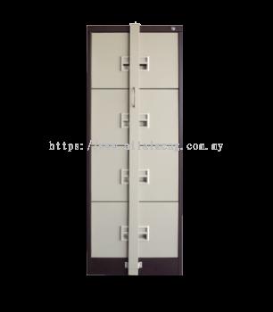 4 Drawer Filing Cabinet c/w Locking Bar S106/ABLB