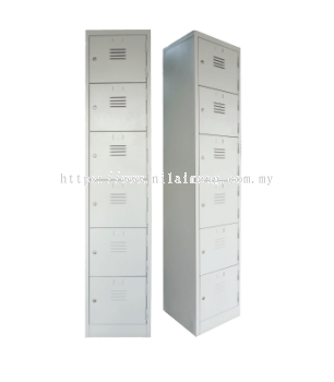 6 Compartment Steel Locker S114/A