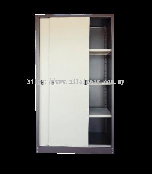 Full Height Cupboard with Steel Sliding Door S116