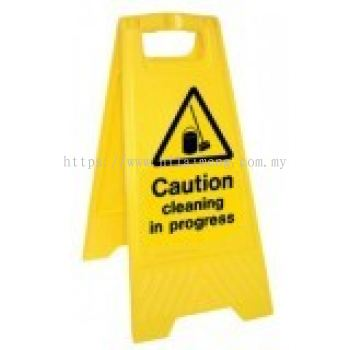 A-Standing Caution Sign-CLEAN IN PRORESS