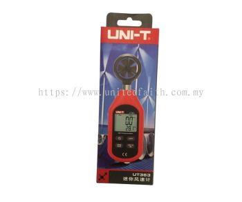 UNI-T UT363 Mini Digital Wind Speed Meter Pocket Anemometer Speed Temperature Tester Thermometer