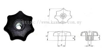 Penetrated Hand Knob - 6025 Series