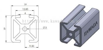 Aluminium Profile 19 X 19