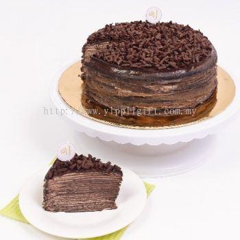 DIVINE DARK CHOCOLATE MILLE CREPE CAKE