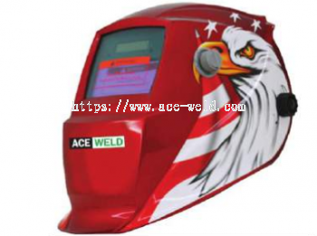Solar Helmet Red Eagle