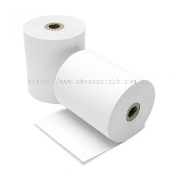 High-Quality Woodfree Paper Roll (76mm x 65mm) 1-ply