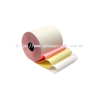 High-Quality Woodfree Paper Roll (76mm x 65mm)  3-ply NCR