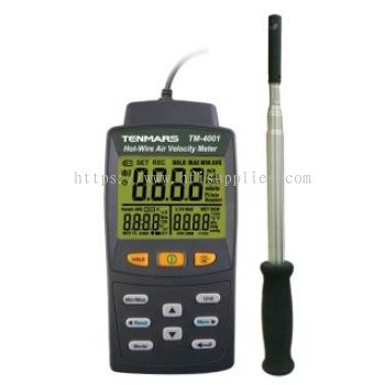 Hot Wire Anemometer with Dew Point & Wet Bulb