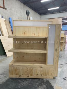 Wooden product shelving