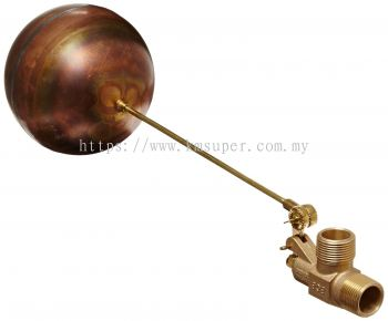 COOLING TOWER BRASS / POLY FLOAT VALVE C/W FLOAT BALL