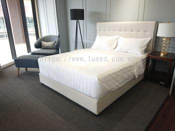 Luxez Cotton Mix 3cm Stripe Hotel Bed Linen