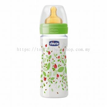 Chicco Well-Being Latex Feeding Bottle 250ml (CC70760)