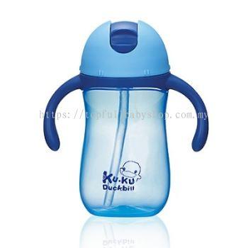 KUKU DUCKBILL PP TRAINING CUP BLUE 260ML (KU5485)